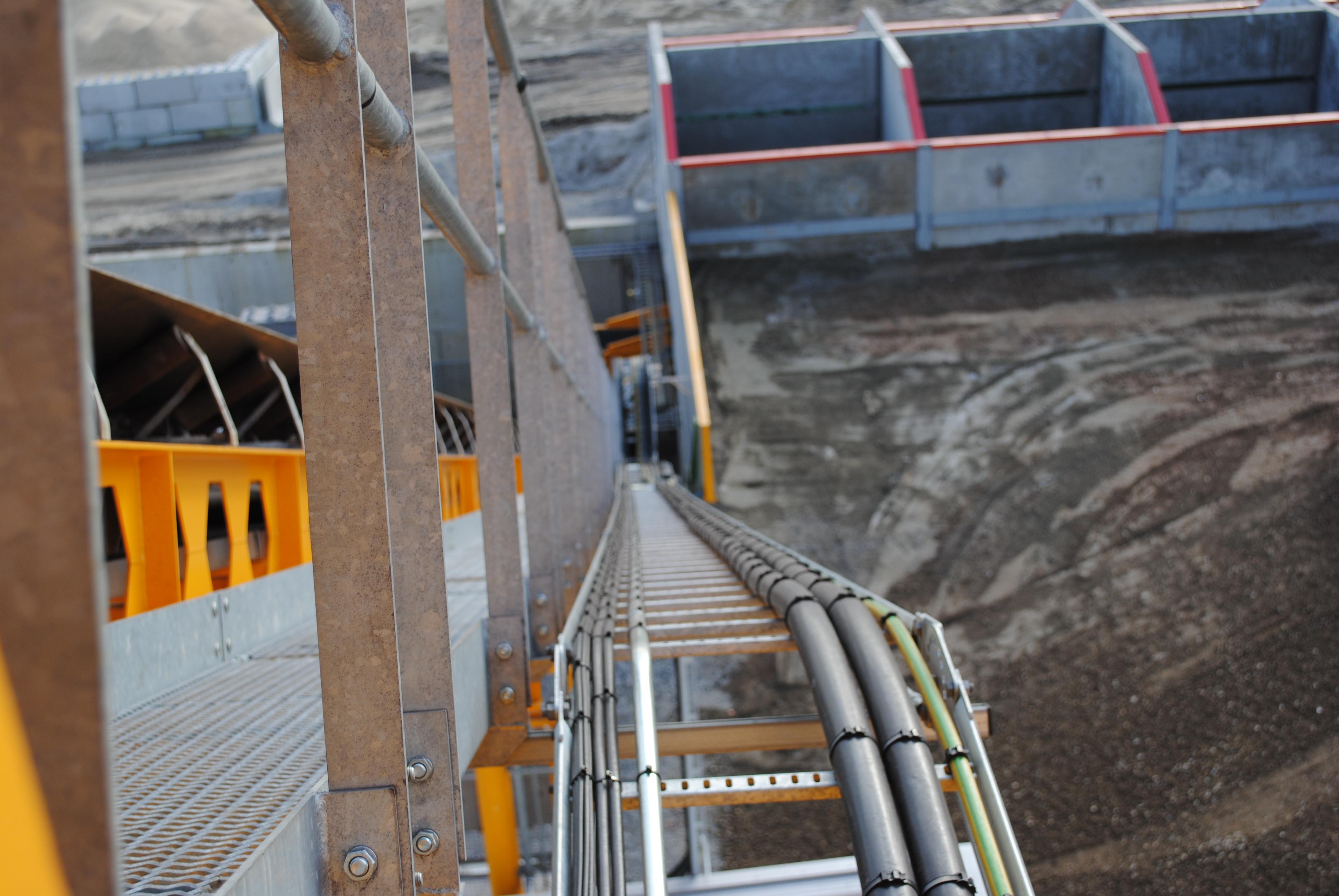 Bekabeling betoncentrale